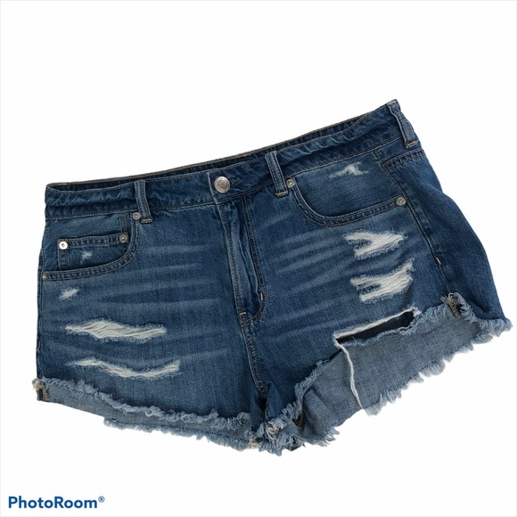 AMERICAN EAGLE Women's Bootie Blue Jean Shorts 12